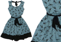 Slate Blue Bird Dress