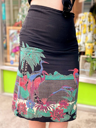Handmade Vintage Tropical Skirt