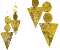 Brass Statement Earrings