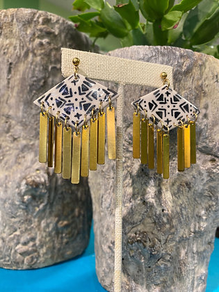 Porcelain Southwest Handpainted Earrings
