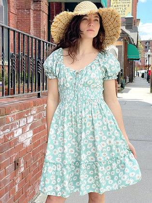 Daisy Print Rayon Sundresses