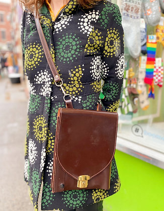 Vintage Leather and Felt Strap Crossbody
