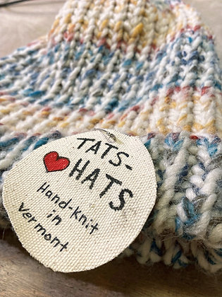 """Tats-Hats"" Hand-knit Beanies"