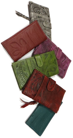 Tooled Leater Wallets