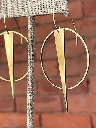 Dagger Hoop Earrings