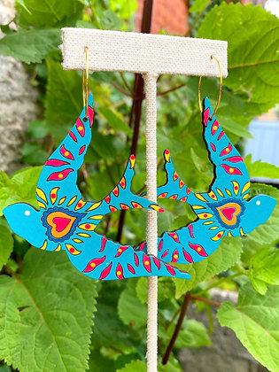 Hand-Painted Love Sparrow Earrings