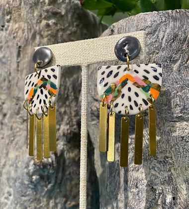 Porcelain '80s Dance Party Earrings