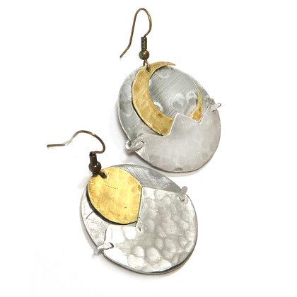 Crescent Moon/Full Moon Earrings
