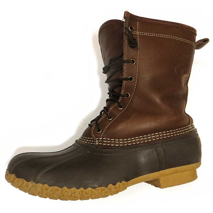 Mens LL Bean Shearling Lined Duck Boots