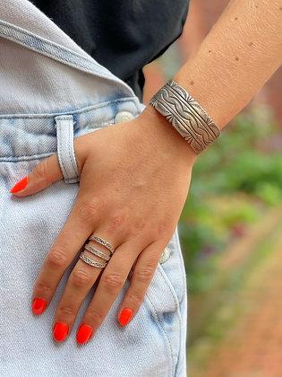 Sterling Silver Native Cuff Bracelet