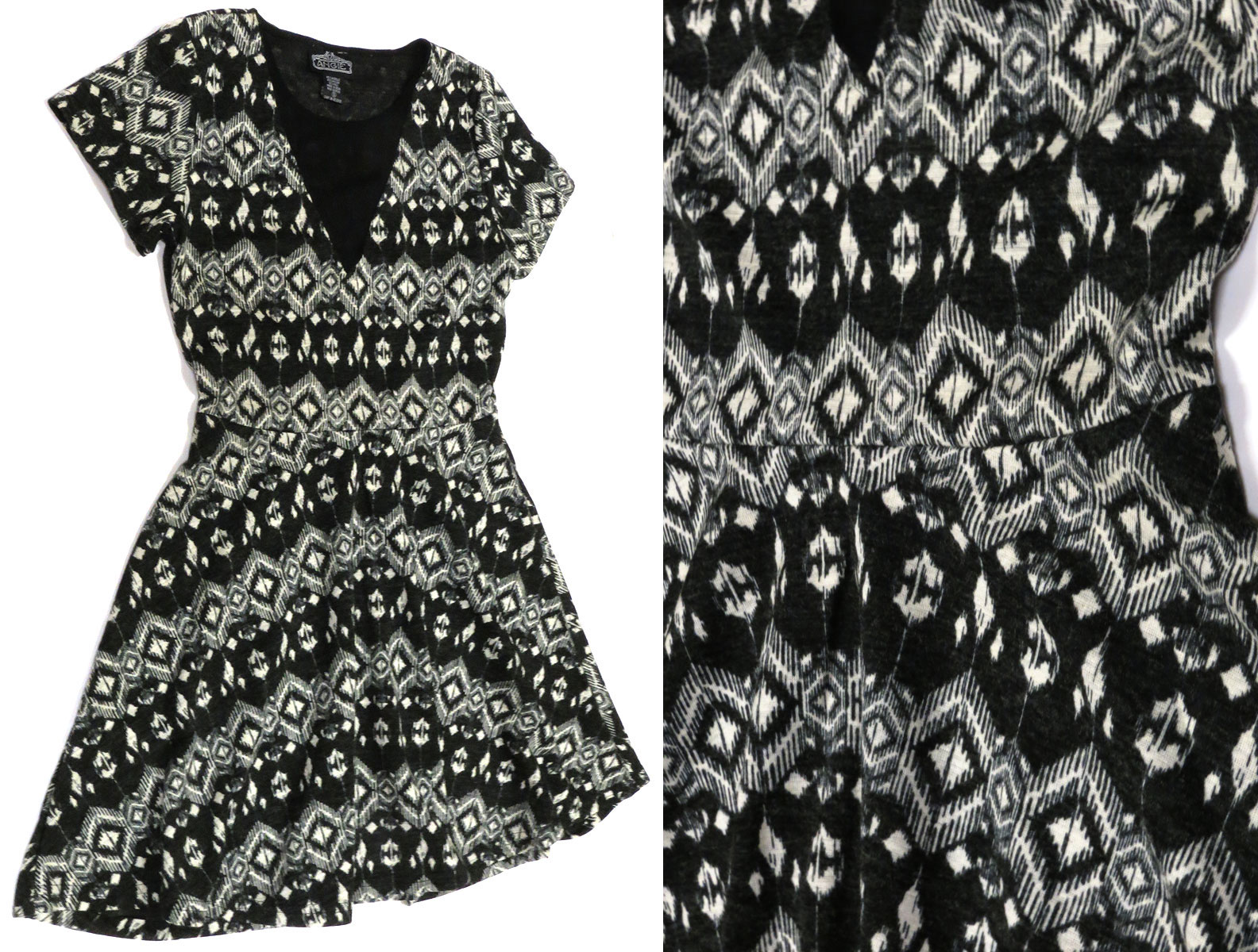 Ikat Skater Dress