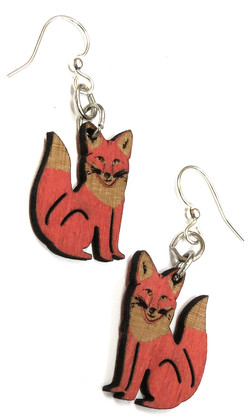 Die Cut Wood Earrings