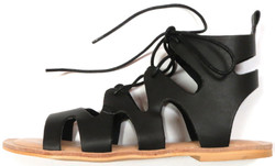 Black Laced Sandal
