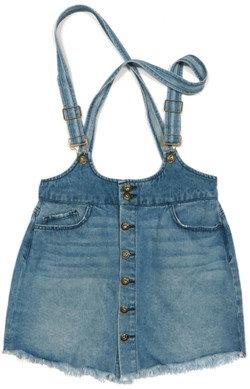 Denim Suspender Dress
