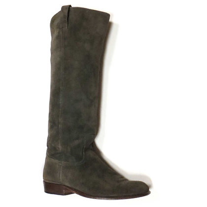 FRYE Grey Suede Pull On Tall Boots-Size 8 1/2