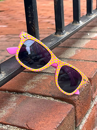 Pink Lemonade Checkered Sunglasses