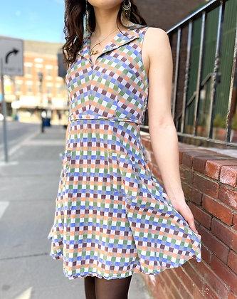 ModCloth Cotton Checkered Dress