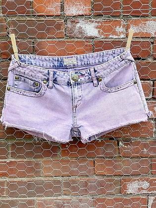 Free People Pink Acid Wash Booty Shorts ~ Size 27