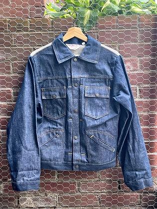 Vintage '80s VT Made Denim Mesh-Back Jacket