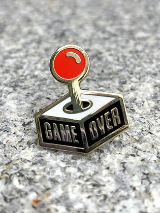 """Game Over"" Joystick Pin"
