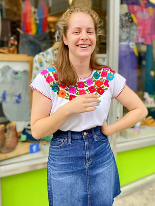 Handmade Mexican Embroidered Blouse