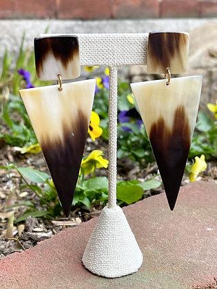 Triangle Post Earrings Handmade in Haiti