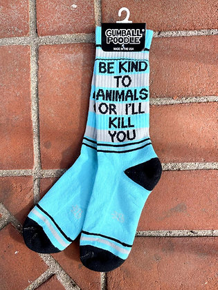 """""""Be Kind To Animals"""" Comfy Crew Sock"""