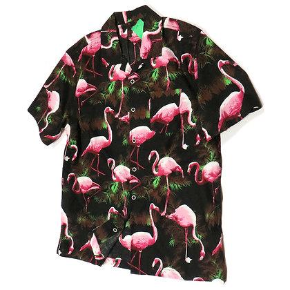 NEW Mens Cotton Pink Flamingos Shirt