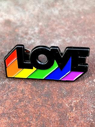 """LOVE"" Enamel Pride Pin"