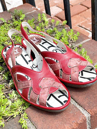 Brand New Fly London Red Sandals