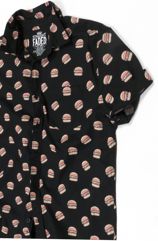 Burger Print Oxford