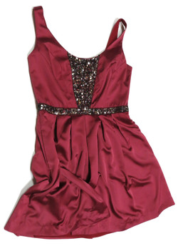 Plum Sequin Dress