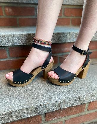 Ren Black Platform Sandals