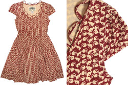 Cap Sleeve Squirrel Dress