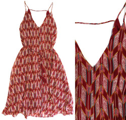 Feather-Chevron Dress