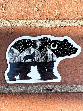 Bear & Wolf Weatherproof Sticker