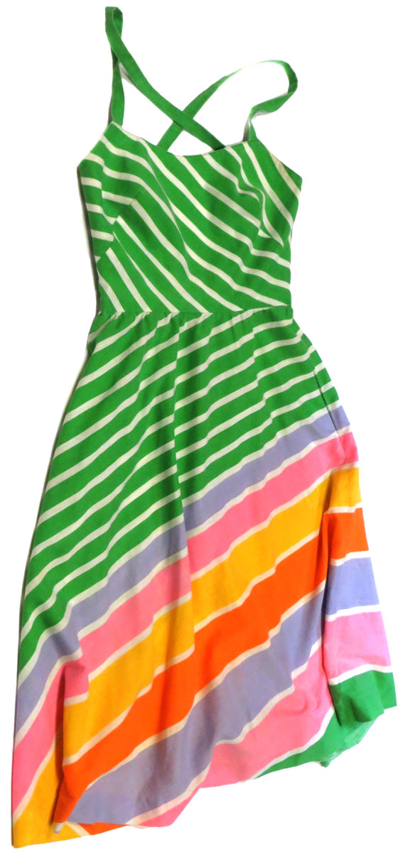 Chevron Stripe Sun Dress