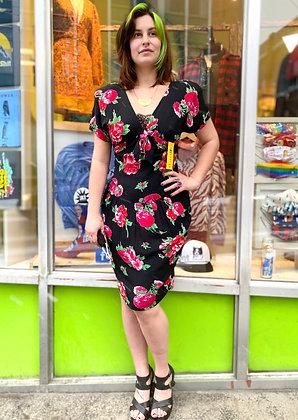 Vintage 80s' Rayon Floral Dress