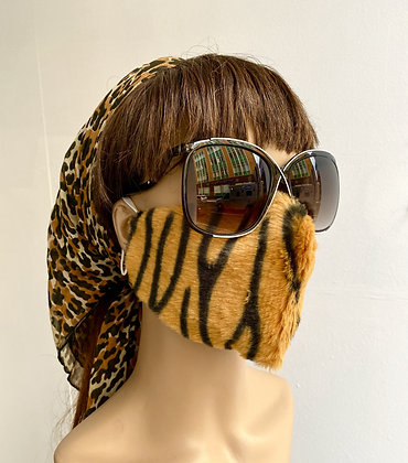 Fuzzy Animal Print Masks