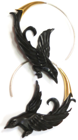 Carved Bird Spirals