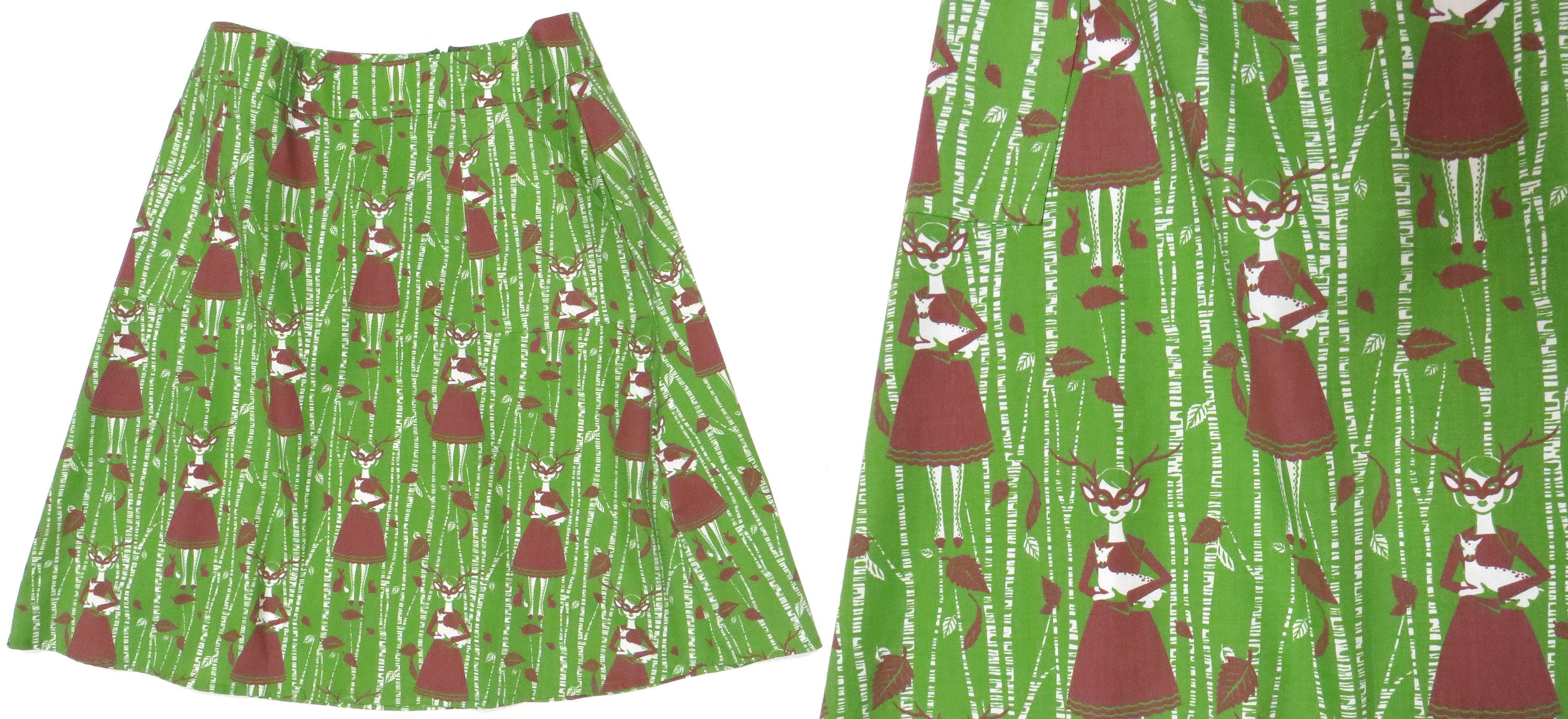 Birch Tree Illustrated Skirt