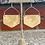 Thumbnail: Locally Handmade Hexagon Earrings ~ in Copper or Brass