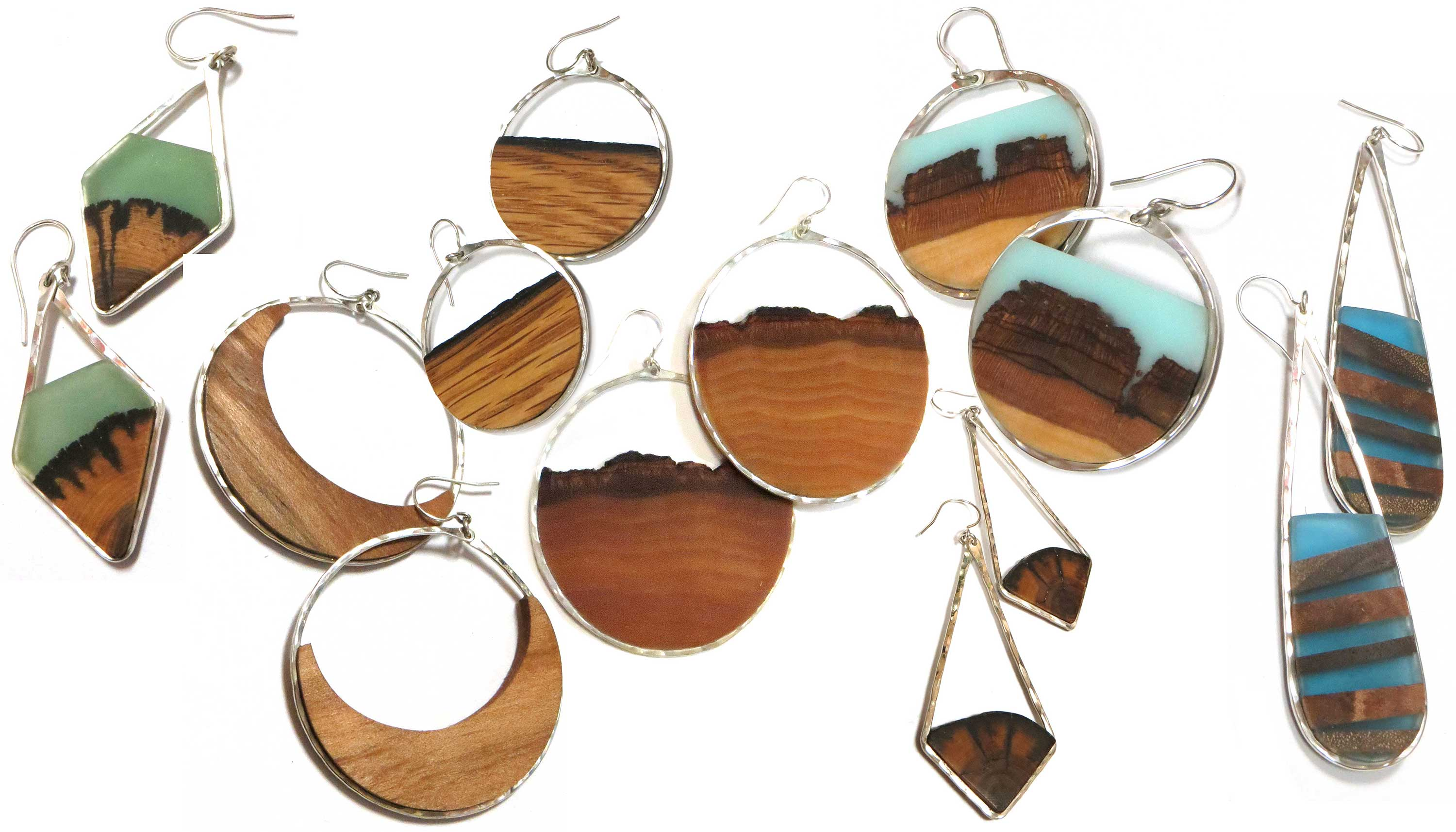 Reclaimed Wood & Sterling Earrings