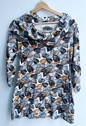 Effie's Heart Leaf-Patterned Tunic with Pockets