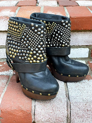 Sam Edelman Studded Fold Over Booties ~ Size 7