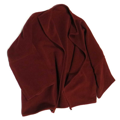 Cozy Burgundy 3/4 Sleeve Swing Jacket