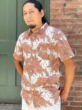 O'Neill Faded Hawaiian Button Up ~ Size Medium