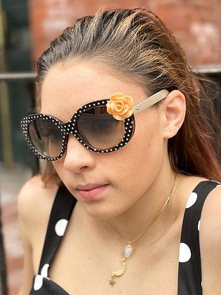 Orange Rose Accented Polka Dot Shades