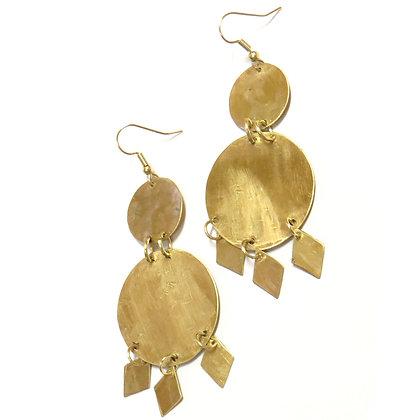 Cairo Brass Medallion Earrings