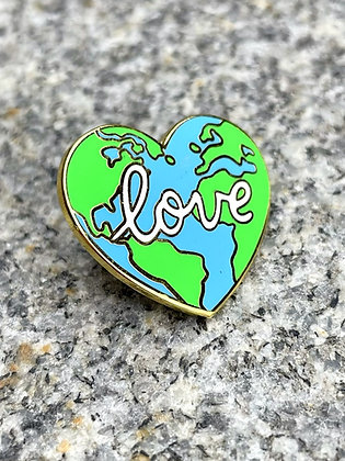 "Earth ""Love"" Enamel Pin"